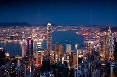 Porto di Hong Kong Victoria Immagine Stock