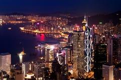 Porto di Hong Kong Victoria Immagini Stock