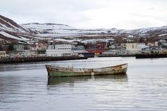 Porto di Husavik Fotografie Stock Libere da Diritti