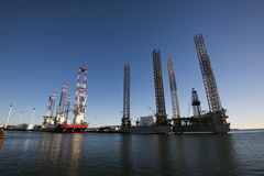 Porto di industriale di Esbjerg Fotografie Stock Libere da Diritti