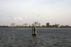 Porto di industriale di Wismar Fotografia Stock