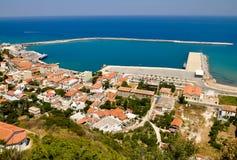 Porto di Karlovasi, Samos, Grecia Fotografie Stock Libere da Diritti