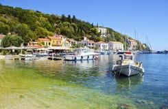 Porto di Kioni in Ithaca Grecia fotografia stock