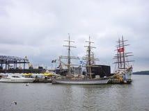 Porto di Klaipeda, Lituania immagine stock libera da diritti