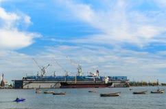 Porto di Laemchabang Fotografie Stock