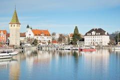 Porto di Lindau Fotografia Stock