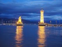 Porto di Lindau Fotografie Stock