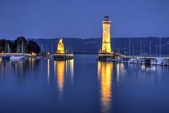 Porto di Lindau, Germania Immagine Stock