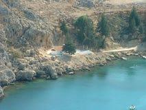 Porto di Lindos fotografie stock libere da diritti