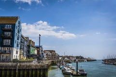 Porto di Littlehampton, West Sussex, Inghilterra, Regno Unito fotografie stock libere da diritti