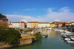 Porto di Livorno Immagine Stock Libera da Diritti