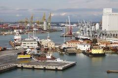 Porto di Livorno, Italia Fotografia Stock Libera da Diritti