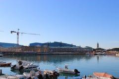 Porto di Livorno, Italia, ricostruzione di vecchio porto Immagine Stock
