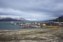 Porto di Longyearbyen, Spitsbergen, le Svalbard Fotografia Stock Libera da Diritti