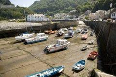 Porto di Lynmouth, Inghilterra Immagine Stock Libera da Diritti