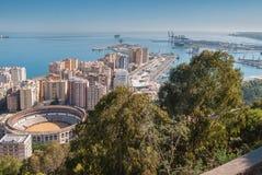 Porto di Malaga Fotografie Stock