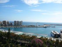 Porto di Malaga Immagini Stock Libere da Diritti