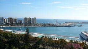 Porto di Malaga Fotografia Stock Libera da Diritti
