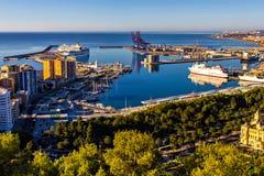 Porto di Malaga, Andalusia, Spagna Fotografie Stock Libere da Diritti