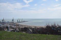 Porto di Mariupol Fotografie Stock Libere da Diritti