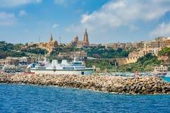 Porto di Mgarr Gozo Fotografie Stock