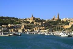 Porto di Mgarr su Gozo, Malta immagine stock libera da diritti