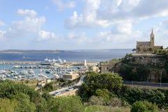 Porto di Mgarr sulla piccola isola di Gozo - Malta Fotografia Stock Libera da Diritti
