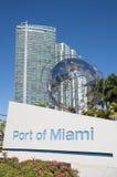 Porto di Miami Immagini Stock Libere da Diritti