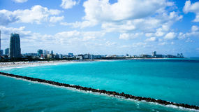 Porto di Miami Fotografie Stock