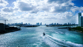 Porto di Miami Fotografia Stock Libera da Diritti