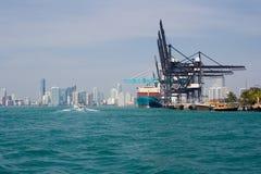 Porto di Miami Immagine Stock