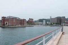 Porto di Moji in Kitakyushu, Fukuoka, Giappone fotografie stock libere da diritti