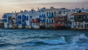 Porto di Mykonos, isola di Mykonos, Grecia Immagine Stock