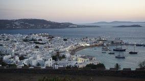 Porto di Mykonos, isola di Mykonos, Grecia Fotografia Stock