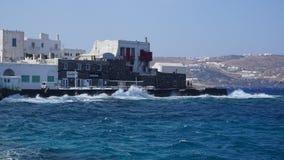 Porto di Mykonos, isola di Mykonos, Grecia fotografia stock libera da diritti