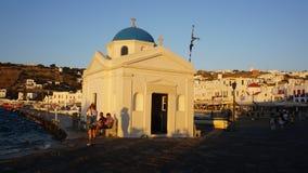 Porto di Mykonos, isola di Mykonos, Grecia Immagini Stock Libere da Diritti