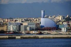 Porto di Napoli al tramonto Immagini Stock Libere da Diritti
