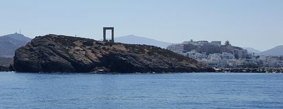 Porto di Naxos, Grecia Fotografie Stock