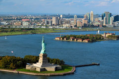 Porto di New York della statua della libertà Fotografia Stock