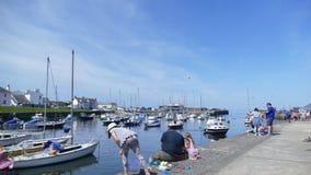 Porto di Newquay nel Galles Regno Unito fotografia stock libera da diritti