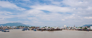 Porto di Nha Trang Fotografia Stock Libera da Diritti