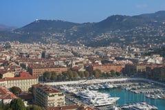 Porto di Nizza da sopra Fotografie Stock