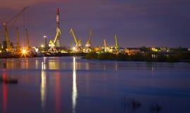 Porto di notte Fotografia Stock