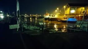 Porto di notte Fotografie Stock