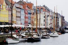 Porto di Nyhavn, Copenhaghen Immagine Stock Libera da Diritti
