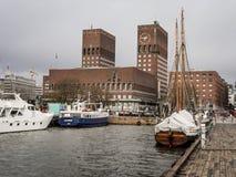 Porto di Oslo Fotografia Stock