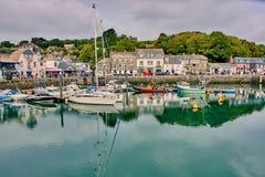 Porto di Padstow in Cornovaglia del nord, Inghilterra fotografia stock libera da diritti