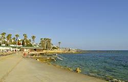 Porto di Pafo nel Cipro Fotografia Stock