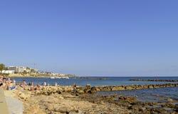 Porto di Pafo nel Cipro Fotografie Stock