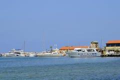 Porto di Pafo nel Cipro Immagini Stock